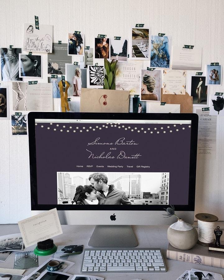 Minted Wedding Website | fabmood.com #weddingwebsite #freewebsite #engaged #ido #bridetobe #wedding