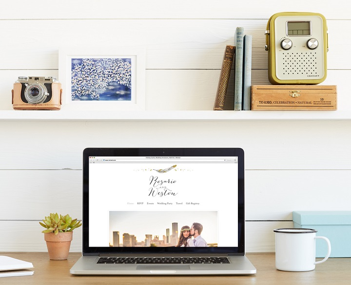 Minted Wedding Website | fabmood.com #weddingwebsite #freewebsite #engaged #ido #bridetobe #wedding