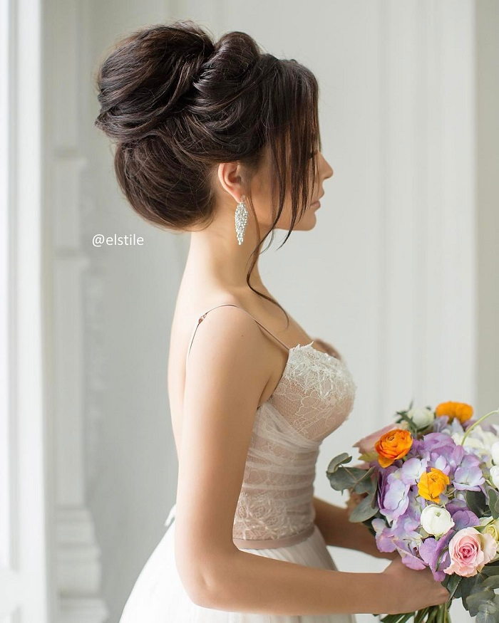 Elegant Updo Wedding Hairstyles To Inspire Your Big Day Look - Wedding hairstyle upstyle