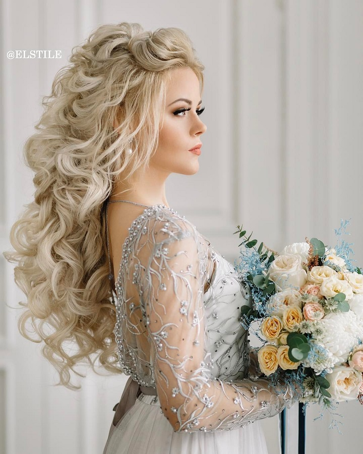 Wedding Hairstyle For Bride: 18 Beautiful Wedding Hairstyles Down For Brides And