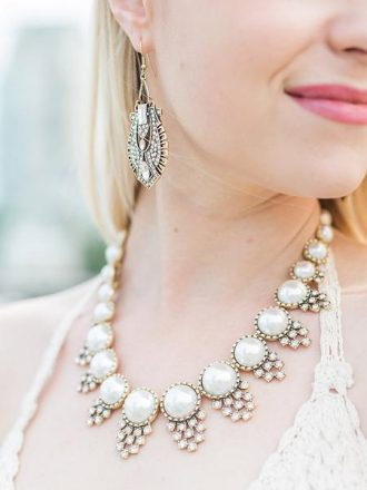 Exquisitely Elegant Bridal Jewelry | fabmood.com #bridaljewelry #necklace #bridalnecklace #jewelry
