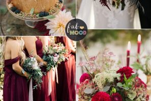 Burgundy + crimson + plum for an Elegant Autumn Wedding Colour Inspiration and Gold Wedding Cake | fabmood.com #autumn #fallwedding #burgundywedding #crimsonwedding