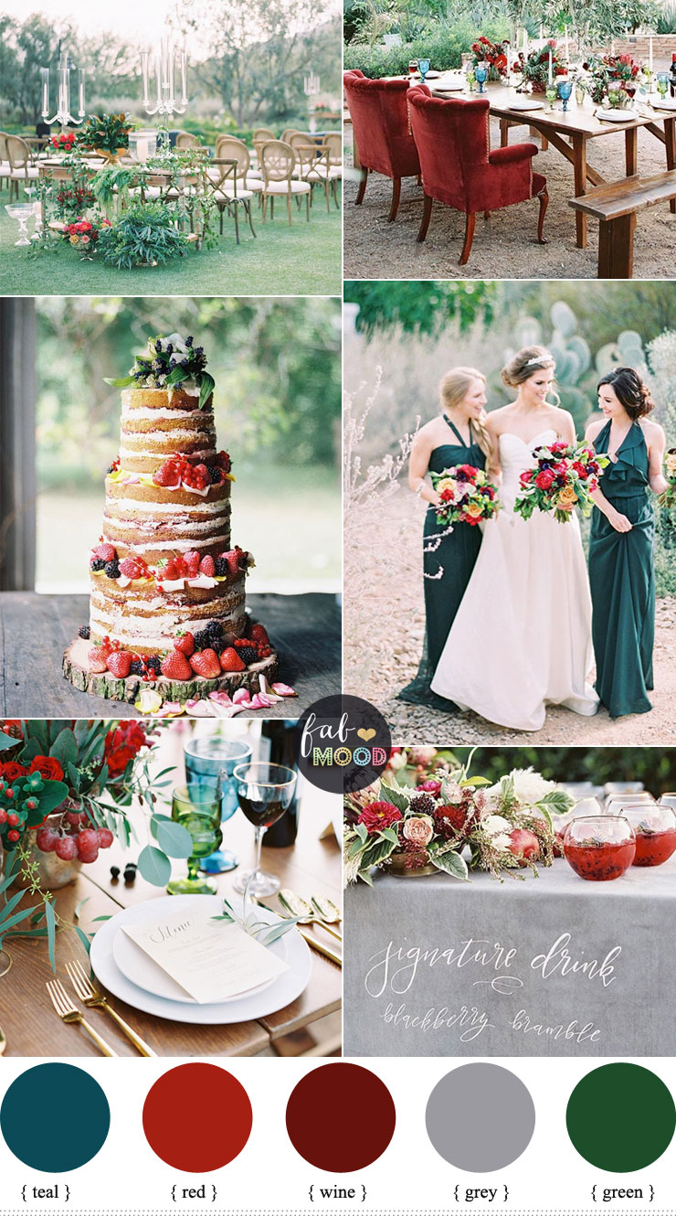 Jewel-toned Wedding with lush glam Wedding Inspiration | fabmood.com #wedding #jeweltone #jeweltonedwedding #weddingcolor #fallwedding #winterwedding #burgundywedding