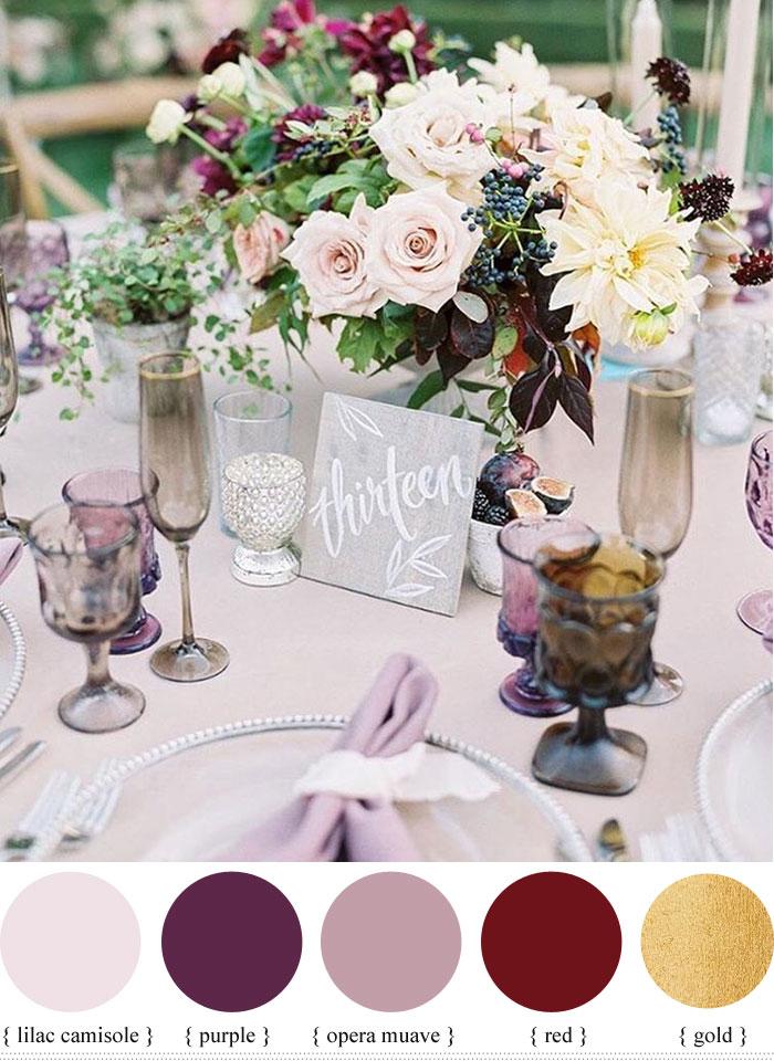 Mauve Shades Of Purple Wedding Colour For Summer Wedding Fabmood