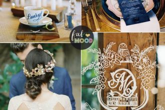 Navy blue and Gold wedding colors | fabmood.com #weddingcolor #blue #navybluegold #elegantwedding