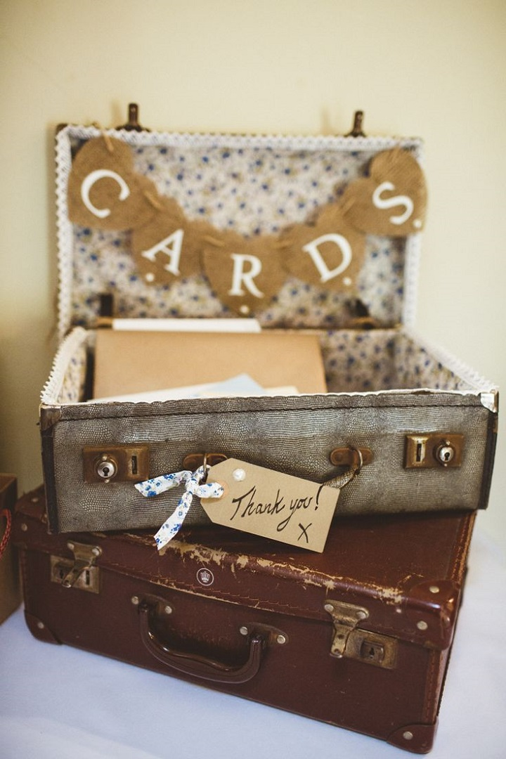 Wedding Card boxes | Wedding Post Box | Vintage Suitcase Card Box