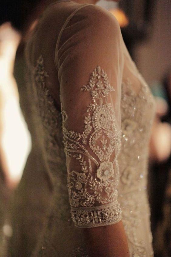 The Most Gorgeous Wedding Dresses | Short sleeved wedding dress | fabmood.com #weddingdress #weddinggown #bridalgown #laceweddingdress