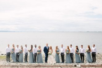 Dusty blue bridesmaid dresses for beach wedding at home | fabmood.com #wedding #beachwedding #dustybluewedding #beachwedding #weddingathome