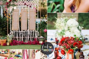 Blue grey + mexican pink + burgundy for Colorful lux boho wedding ideas for summer wedding | fabmood.com #weddingideas #summerwedding #bohowedding #luxbohowedding #luxboho #weddingtheme