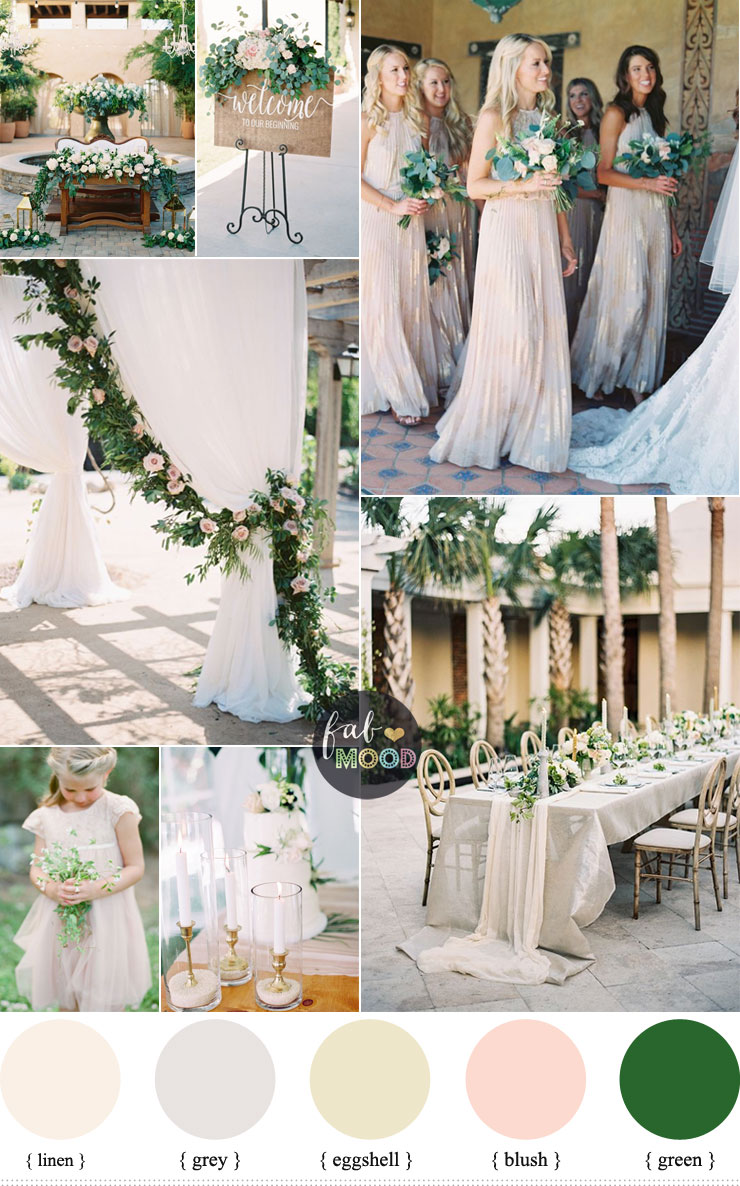 Green And Neutral Wedding Colour Palette That Fits Into Any Style