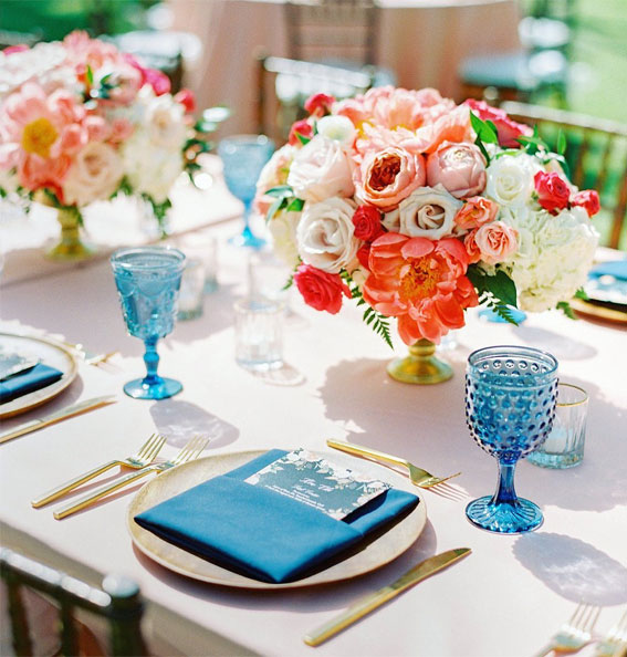 tropical wedding reception table decor, hawaii wedding table decor, summer wedding table, wedding table decoration ideas, wedding reception table ideas , wedding table setting ideas