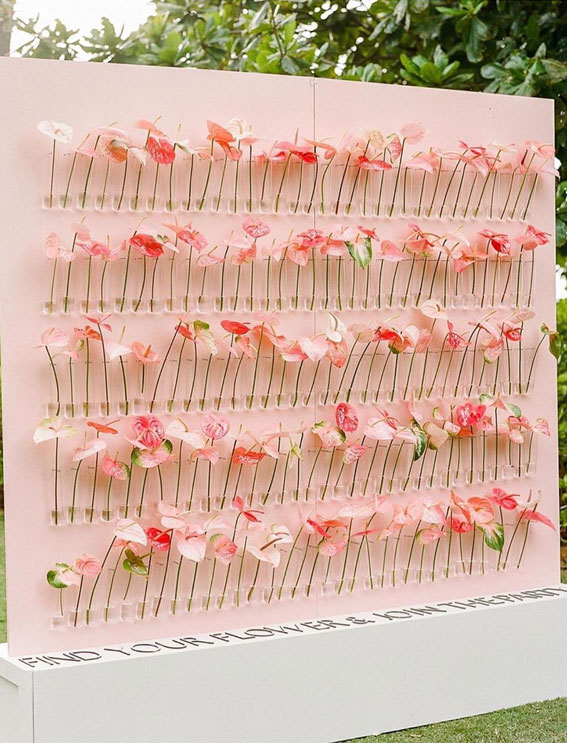 wedding escort cards, tropical escort card displays, wedding escort cards