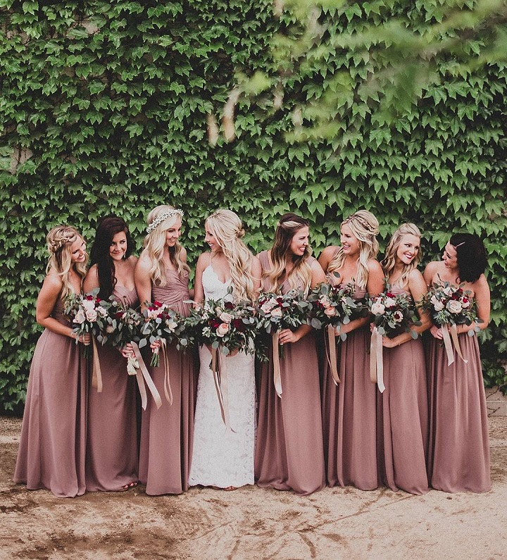 Beautiful long bridesmaid dresses #bridesmaiddresses #longbridesmaids #rosegold