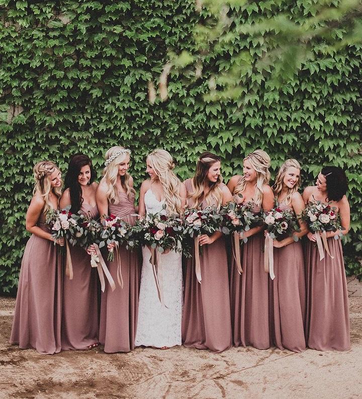Beautiful long bridesmaid dresses #bridesmaiddresses #longbridesmaids #rosegold