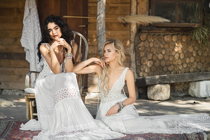 Inbal Raviv Bohemian wedding gowns : Bohemian 2017 bridal collection , crochet wedding dress,boho wedding gowns ,free spirit wedding gowns, laid back wedding dresses