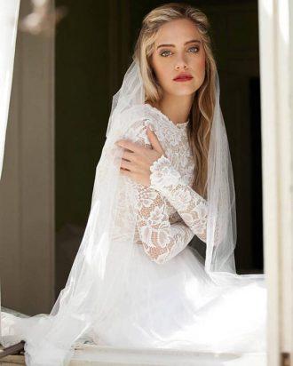 Long sleeve lace wedding dress,winter wedding dress,long sleeve wedding dress for winter wedding