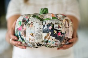 Halloween themed wedding styled shoot | Paper pumpkin wedding decor ideas
