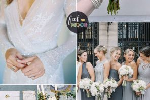 Winter wedding color scheme - platinum, slate grey and gold winter wedding | fabmood.com #fabmood