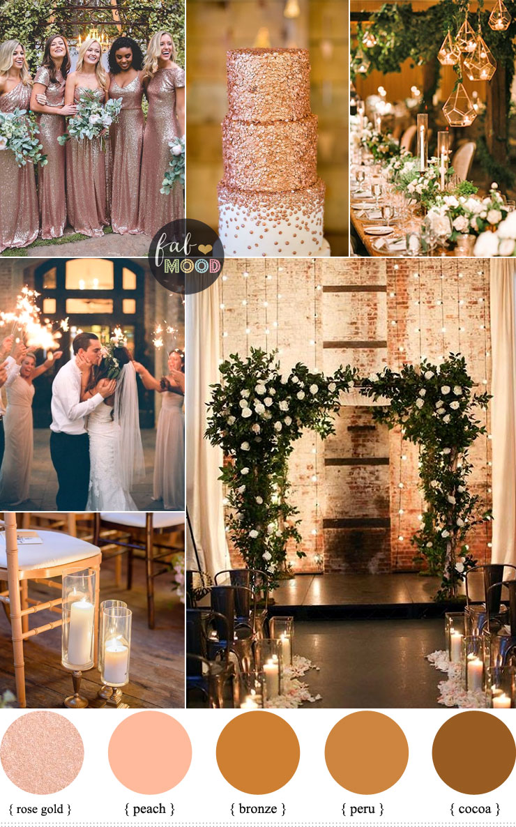 Rose Gold Wedding Colour For Industrial Wedding Warehouse