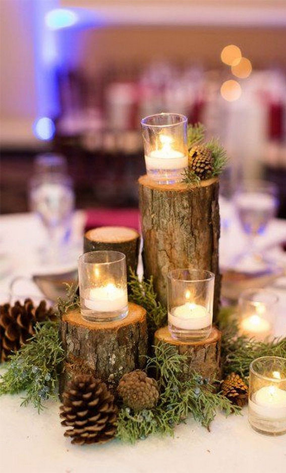 winter wedding centerpieces, winter wedding decors