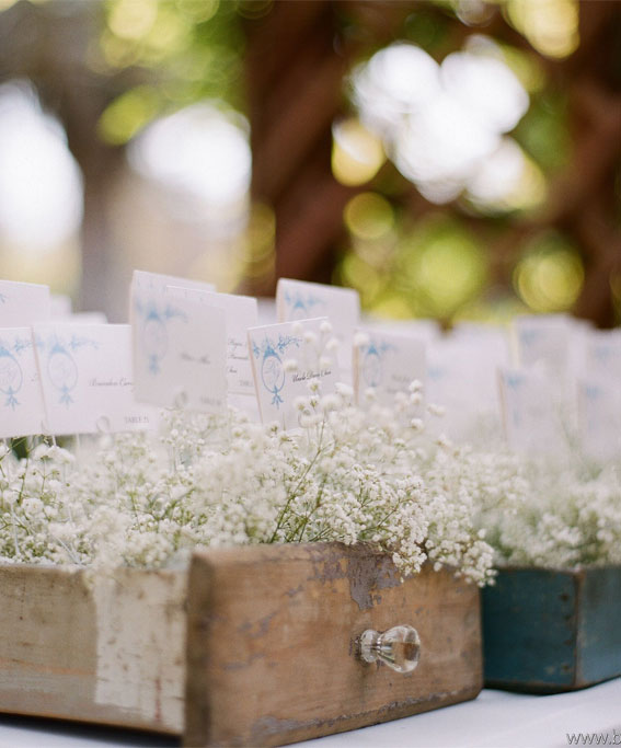 baby's breath wedding decors