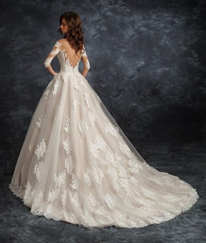Ira Koval 2017 Wedding Dresses | Long sleeve wedding gown with sleeves ,ball gown with long sleeves #weddinggown #weddingdress with train