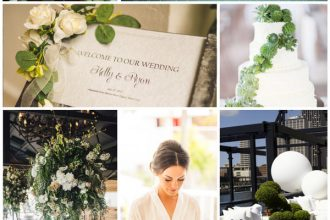 Blooming and Beautiful Summertime Celebration, Greenery and Ivory wedding colors