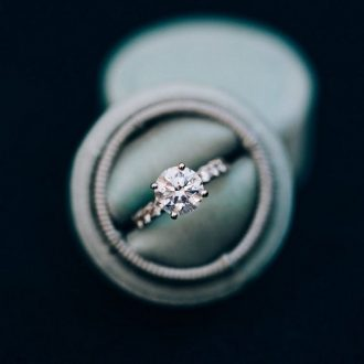 Solitaire engagement ring - simple diamond engagement ring #engagementring