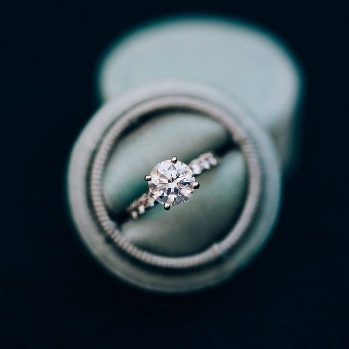 Solitaire Engagement Ring   Simple Diamond Engagement Ring #engagementring