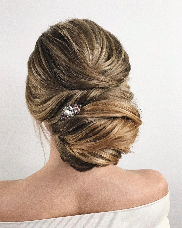 100 gorgeous wedding updo hairstyles that will wow your big day updo hairstyleupdo wedding hairstyles with pretty detailsupdo wedding hairstyles updo wedding junglespirit Images
