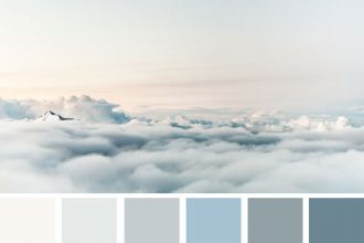 Color palette inspired by sky #color #colorpalette #colorscheme