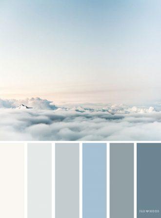 Color palette inspired by sky #color #colorpalette #colorscheme
