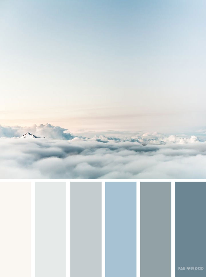 Blue and grey sky color