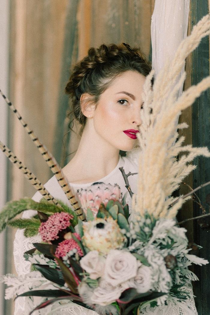 "Wild Bride Wedding Styled Shoot inspired by ""Hunger Games"" #wedding #weddingstyledshoot #hungergames #weddingtheme"