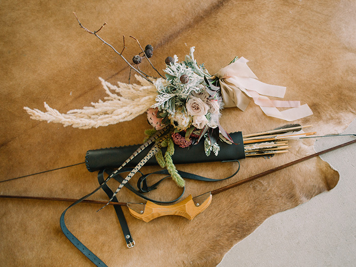 "Wild Bride Wedding Styled Shoot inspired by ""Hunger Games"" #wedding #weddingstyledshoot #hungergames #weddingtheme"
