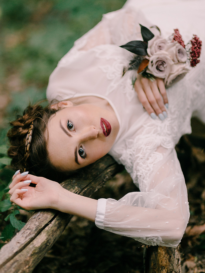 "Wild Bride Wedding Styled Shoot inspired by ""Hunger Games"""
