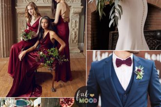 Burgundy Gold And Navy Blue Color Scheme For Clical Wedding
