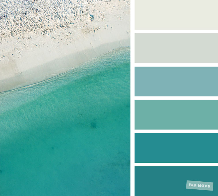 Green and Grey Hues : Green Teal color palette #color #colorpalette