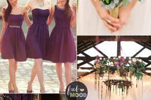Plum Wedding Color For Rustic Wedding , plum mauve , purple ,lilac wedding #weddingcolor #weddingpalette