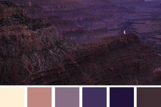 Peach and purple sunset inspired color palette #color #colours #palette #weddingcolor