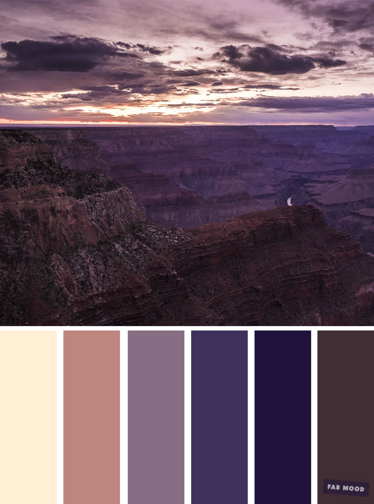 Peach and purple sunset inspired color palette #color #colours #palette #weddingcolor