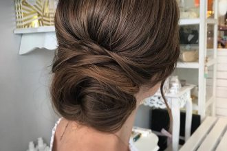 Gorgeous Textured Updo Hairstyles - simple updo ,updos ,upstyles ,wedding updo ,wedding hairstyle #hairstyle #updo #weddinghair #weddinghairstyles