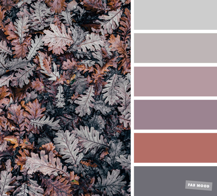 Grey and mauve fall color scheme