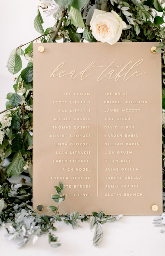 neutral wedding decor, wedding arch , geometric wedding table decor
