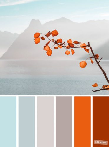 Burnt orange light blue and grey color palette #colors #autumn #autumncolour