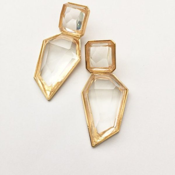 chunky transparent acrylic earrings