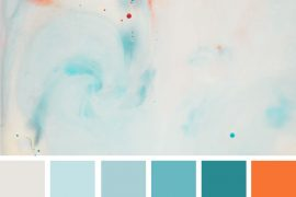 Light blue teal and orange colour palette #color #colorpalette