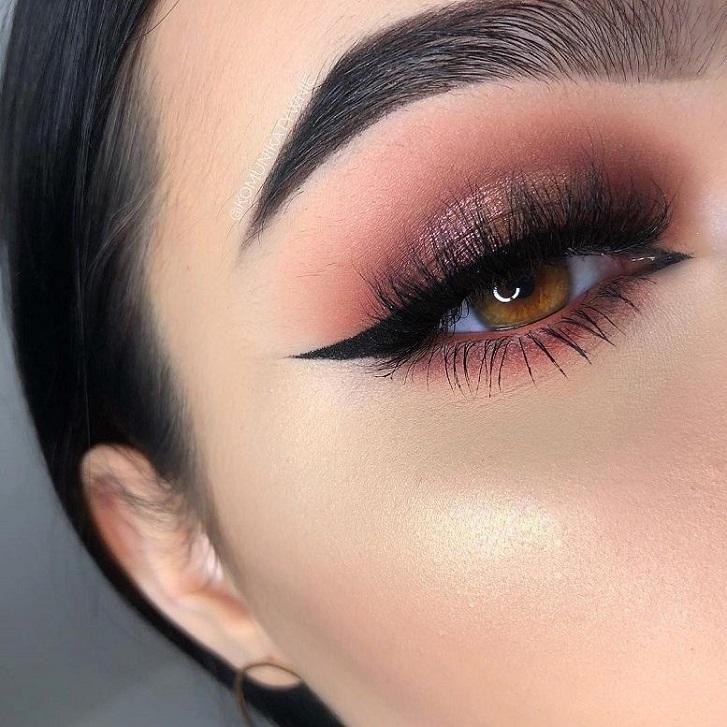 Glam eye makeup - Gorgeous eye makeup rose gold #eyemakeup #eyeshadow