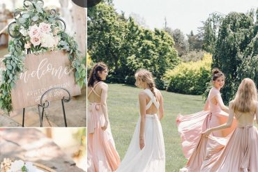 Blush wedding colour theme for a garden wedding - Spring wedding , blush wedding color #color #blush wedding theme, blush wedding colour ideas #weddingideas