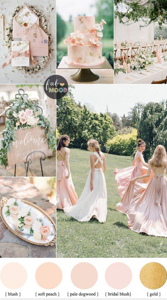 Blush wedding colour theme for a garden wedding - Spring wedding , blush wedding color #color #blush wedding theme, blush wedding colour ideas #weddingideas